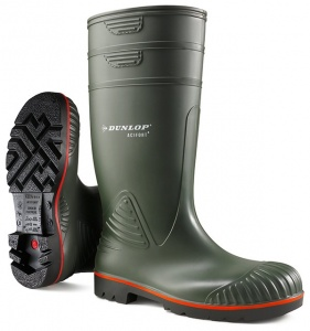 Dunlop Acifort Agri Full Safety Wellington Boots With Steel Toe Cap And Mid Sole