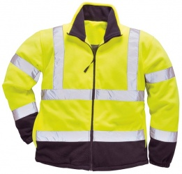High Visibility Yellow Two-Tone Fleece Jacket