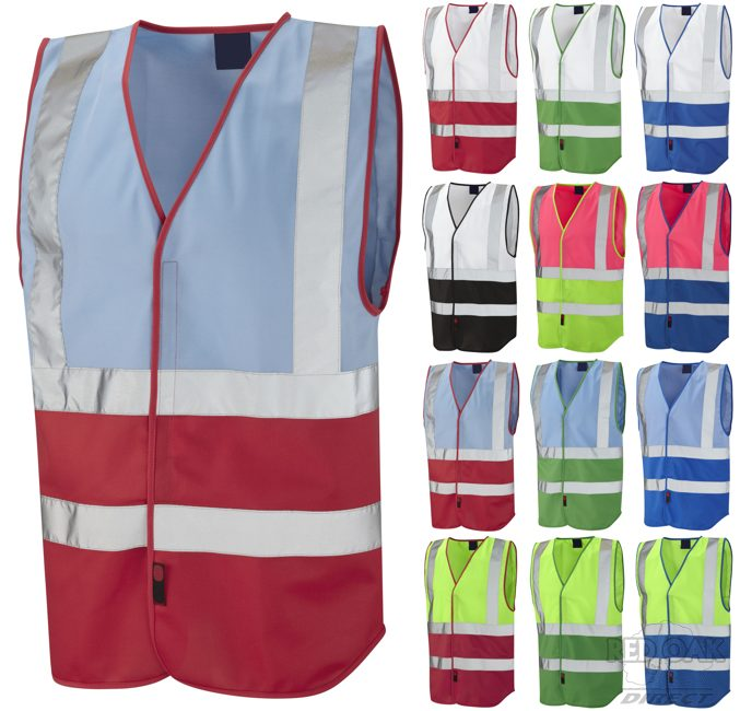 Lime Green Motorcycle Jacket High Visibility Two-Tone Coloured Vest - redoakdirect.com