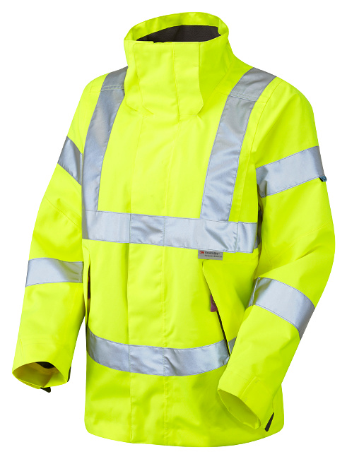 Ladies Premium High Visibility Yellow Breathable Waterproof Jacket ...