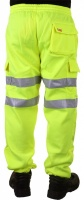 High Visibility Saturn Yellow Sweat Jogging Cargo Trousers EN471