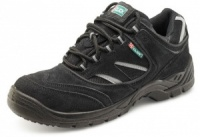 Safety Trainer Shoe - Black With Steel Toe Cap And Midsole