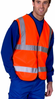 High Visibility Orange Lightweight Waistcoat / Vest ENISO 20471 Class 2