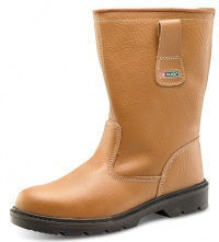 Safety Leather Rigger Boots With Steel Toe Cap And Mid Sole