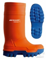 Dunlop Purofort Thermo+ Full Safety Wellington Boots in Orange - FREE HAT OFFER!
