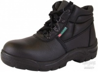 Black Safety Chukka Boot With Steel Toe Cap And Midsole
