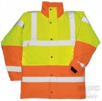 Printed High Visibility Contrast Traffic Jacket (Yellow Upper)