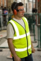 High Visibility Yellow Flame Retardant Zipped Vest EN 471
