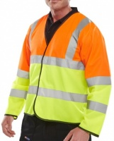 High Visibility Orange & Yellow Two Tone Lightweight Jacket