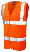 Clifton Limited Flame Spread / Anti-Static Hi Vis Orange Waistcoat