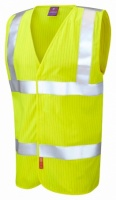 Clifton Limited Flame Spread / Anti-Static Hi Vis Yellow Waistcoat