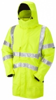 High Visibility Yellow Breathable Interactive Jacket With Reflexite Tape