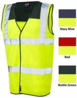 High Visibility Vest With Coloured Yoke
