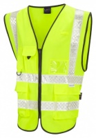 Printed High Visibility Yellow Lynton Superior Plus Waistcoat