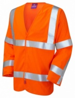 Meshaw Limited Flame Spread / Anti-Static Hi Vis Orange Sleeved Waistcoat