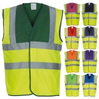 Multi-Coloured High Visibility Waistcoat EN471