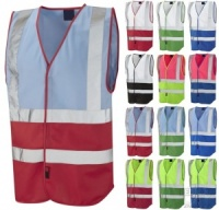 High Visibility Two-Tone Coloured Vest