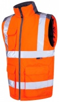 Printed High Visibility Orange Two-Tone Interactive Bodywarmer
