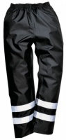 High Visibility Black Waterproof Overtrousers