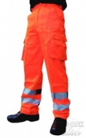 High Visibility Orange Rail Spec Trousers
