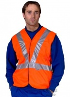 High Visibility Rail Spec Orange Vest GO/RT 3279