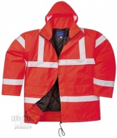 Printed High Visibility Red Traffic Jacket