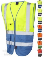 High Visibility Superior Two-Tone Vest (EN471 Class 1)