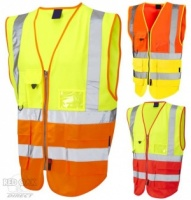 High Visibility Superior Two-Tone Vest (EN471 Class 2)