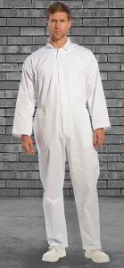 White Food Coveralls With Internal Breast Pocket
