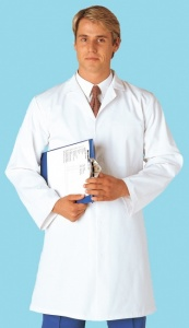 White Food Coat With Internal Breast Pocket