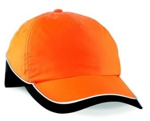 Orange High Viz Baseball Cap Beechfield B135