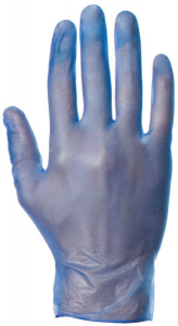 Blue Vinyl Disposable Powdered Gloves (Box of 100)