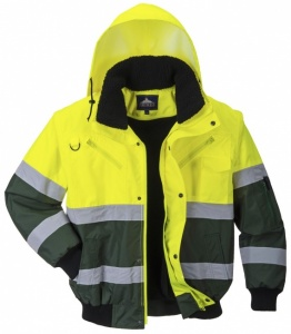 High Visibility Yellow-Green X-Range Waterproof Bomber Jacket