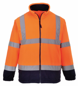 High Visibility F301 Orange & Navy Two-Tone Fleece Jacket