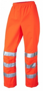 Ladies Waterproof Orange Breathable Overtrousers EN471 & GO/RT3279 Rail Spec.