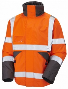 High Visibility J02 Superior Orange Waterproof Bomber Jacket EN471& GO/RT 3279