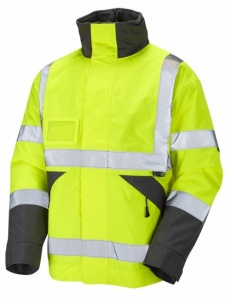 High Visibility J02 Superior Yellow Waterproof Bomber Jacket EN471