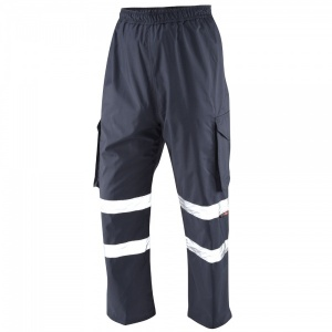 High Visibility Navy Blue Superior Appledore Waterproof Cargo Overtrousers