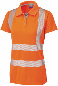 High Visibility Orange Coolviz Ultra Pippacott MK2 Ladies Polo Shirt