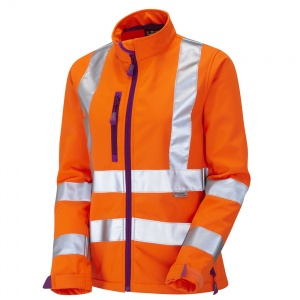 Ladies Honeywell Premium High Visibility Orange Softshell Jacket