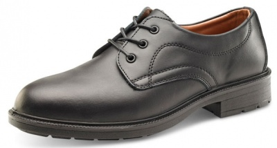 Managers Safety Shoe In Black Leather With Steel Toe Cap