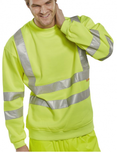 High Visibility Yellow Sweatshirt
