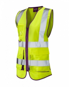 Ladies High Visibility Yellow Lynmouth Superior Vest EN ISO 20471 Class 1