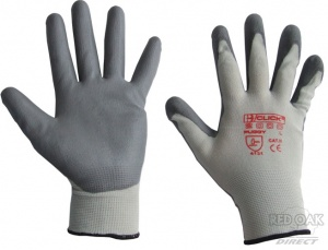 Box of 10 Pairs of Grey PU-Coated Gloves