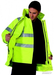High Visibility 4-in-1 Waterproof Jacket / Bodywarmer