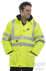 High Visibility Waterproof Yellow 7-in-1 Elsener Jacket