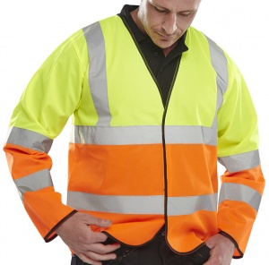 High Visibility Yellow & Orange Two Tone Lightweight Jacket