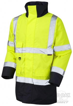 High Visibility Yellow & Navy Blue Superior Waterproof Jacket - ENISO 20471