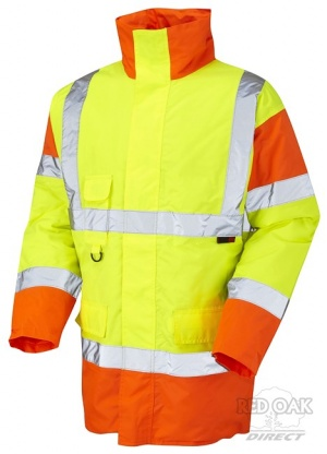 High Visibility Yellow & Orange Superior Waterproof Jacket - ENISO 20471