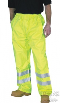 High Visibility Yellow Waterproof Breathable Overtrousers EN471